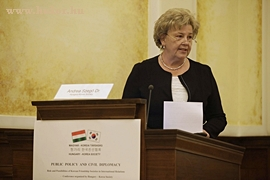 Dr. Szego Andrea, Magyar-Koreai Tarsasag elnöke