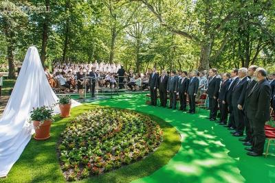Az ünnepség a magyar és a koreai himnusszal kezdődött, előadta a Zuglói Filharmónia kórusa és zenekara, vezényelt Záborszky Kálmán Liszt-díjas művész